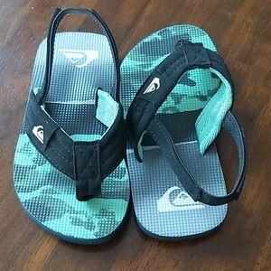 QUIKSILVER Toddler Boy Size 8 Flip Flops